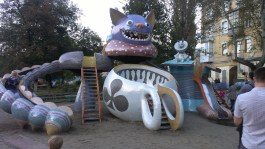 Alice in Wonderland play area. Attempted -- mystic wonderland. Achieved -- creepy.
